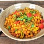 Recette de batch cooking, curry de pois chiche