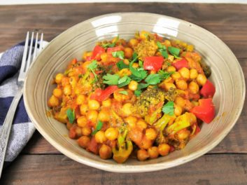 Curry rouge de pois chiches au poivron