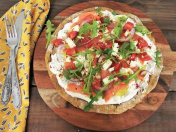 Pizza à la patate douce – Recette du livre de Juju Fitcats, 50 nuance de patate douce