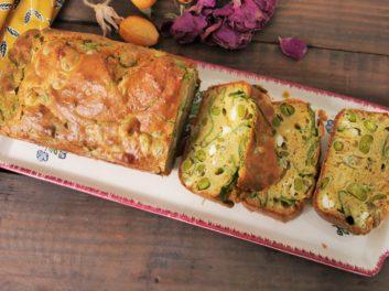 Idée recette pour le soir – Cake salé aux fèves et aux épinards