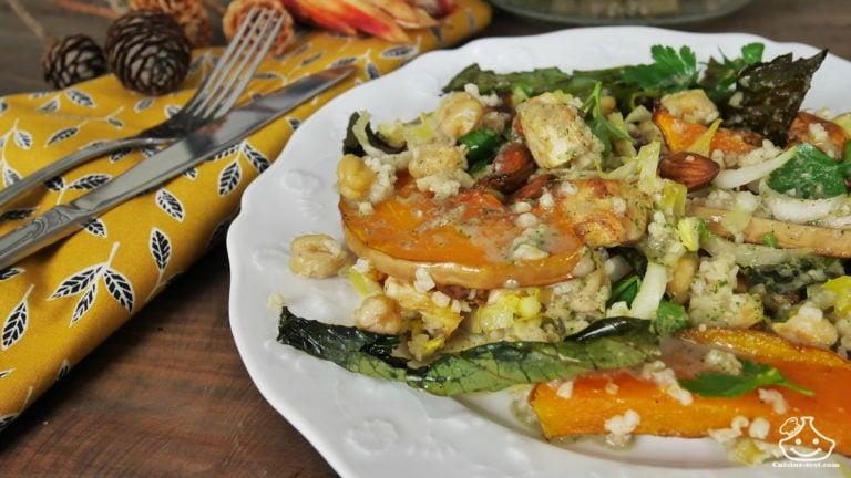 Recette salade du livre mes premiers pas de batch cooking veggie