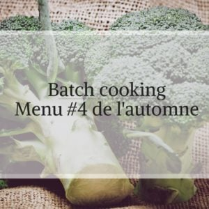 batch cooking de l'automne