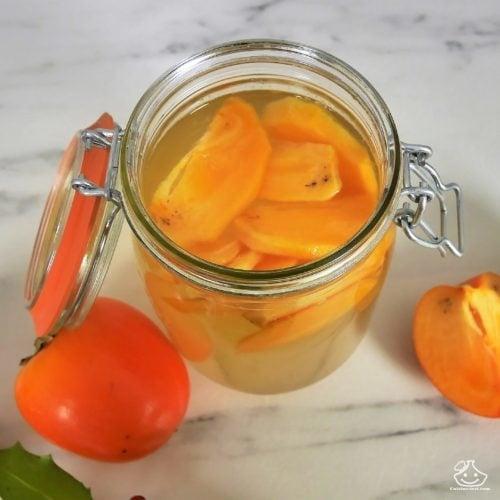 Kéfir de fruits aromatisée au Kaki