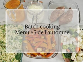 Batch cooking menu #5 de l'automne