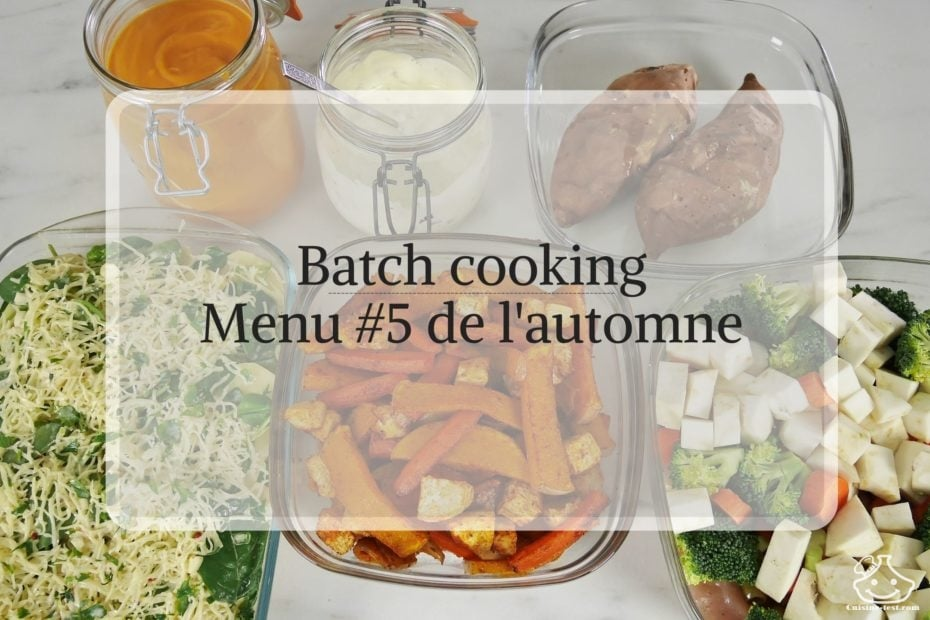 Menu de batch cooking de saison