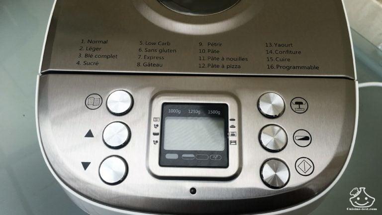 machine a pain silvrercrest lidl bouton de programmation