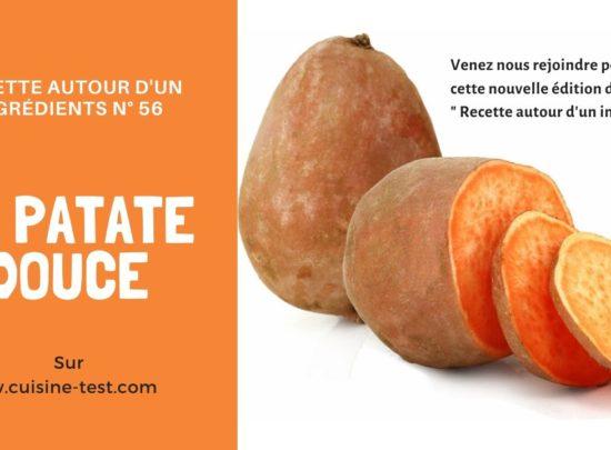Recette autour d'un ingrédients #56 : La patate douce