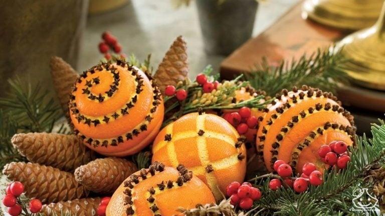 Déco de table avec des oranges
