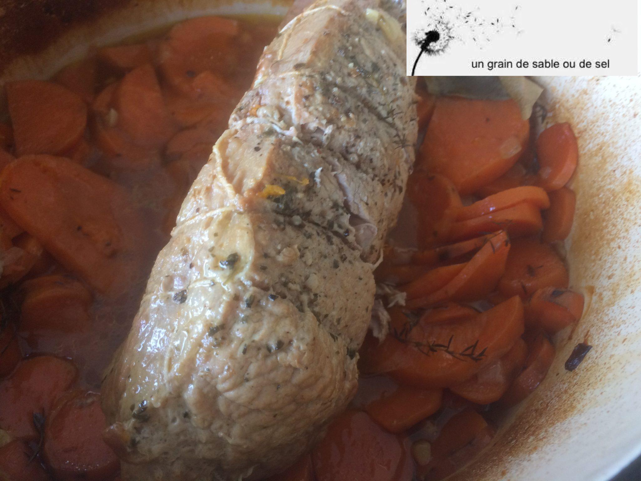 Cocotte d'épaule de veau et patates douces façon boulangère