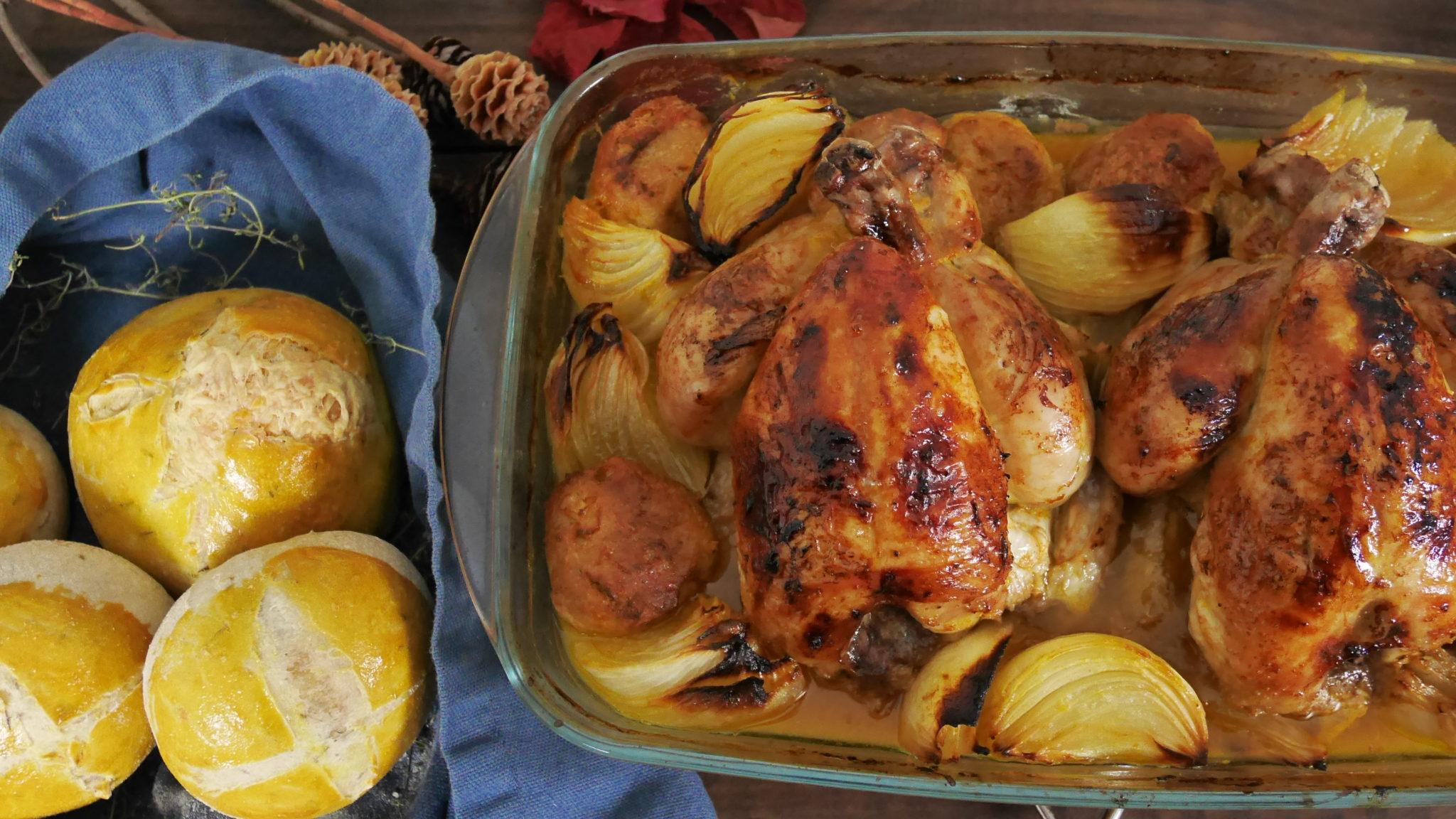Coquelet farci et laqué à l'orange – Idée recette pour Noël ?