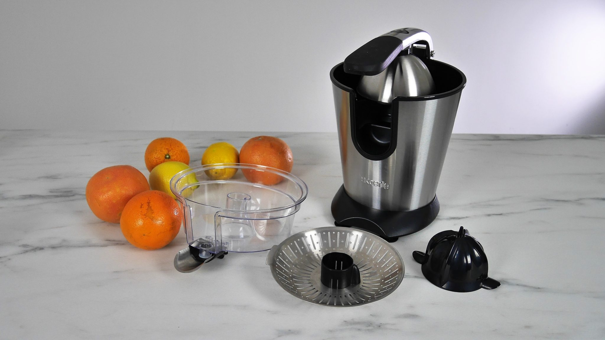 H.Koenig Presse Argumes Electrique levier professionnel Inox AGR80 Sans BPA