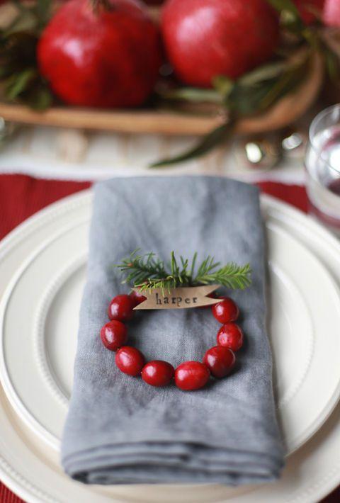rond de serviette pour la table de Noël