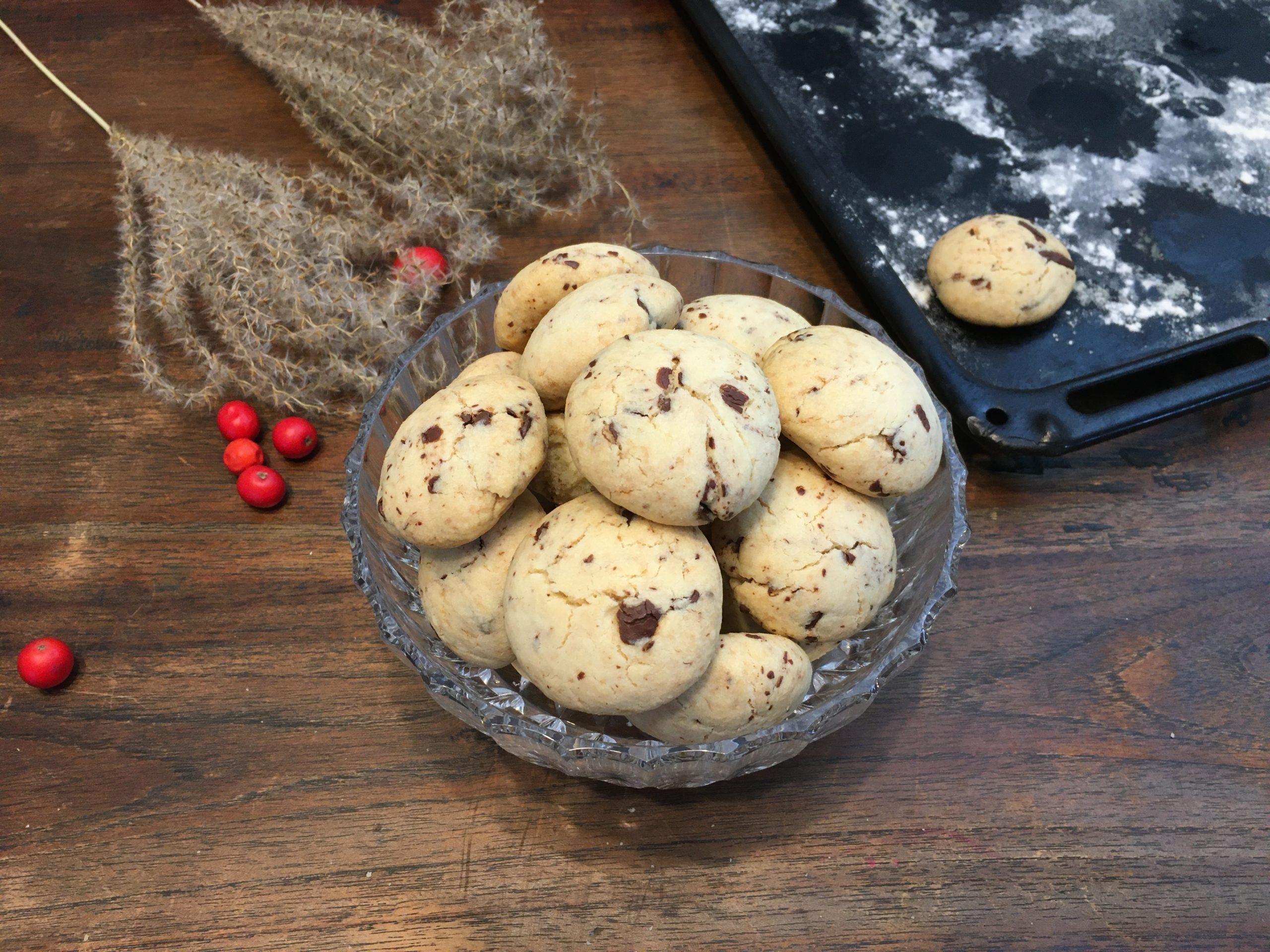 Biscuit chocolat recette IG BAS aux pépites chocolat à l'indice glycémique bas