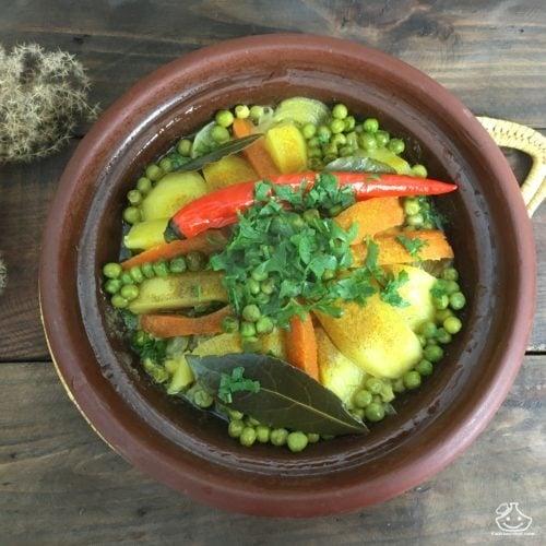 Recette marocaine de tajine aux légumes