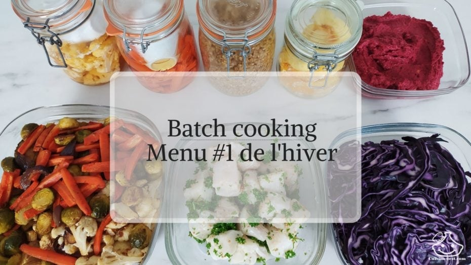 Menu batch cooking hiver en français