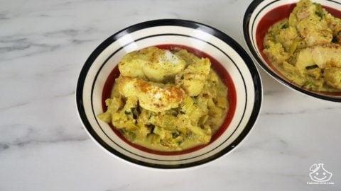 Batch cooking, curry de poisson