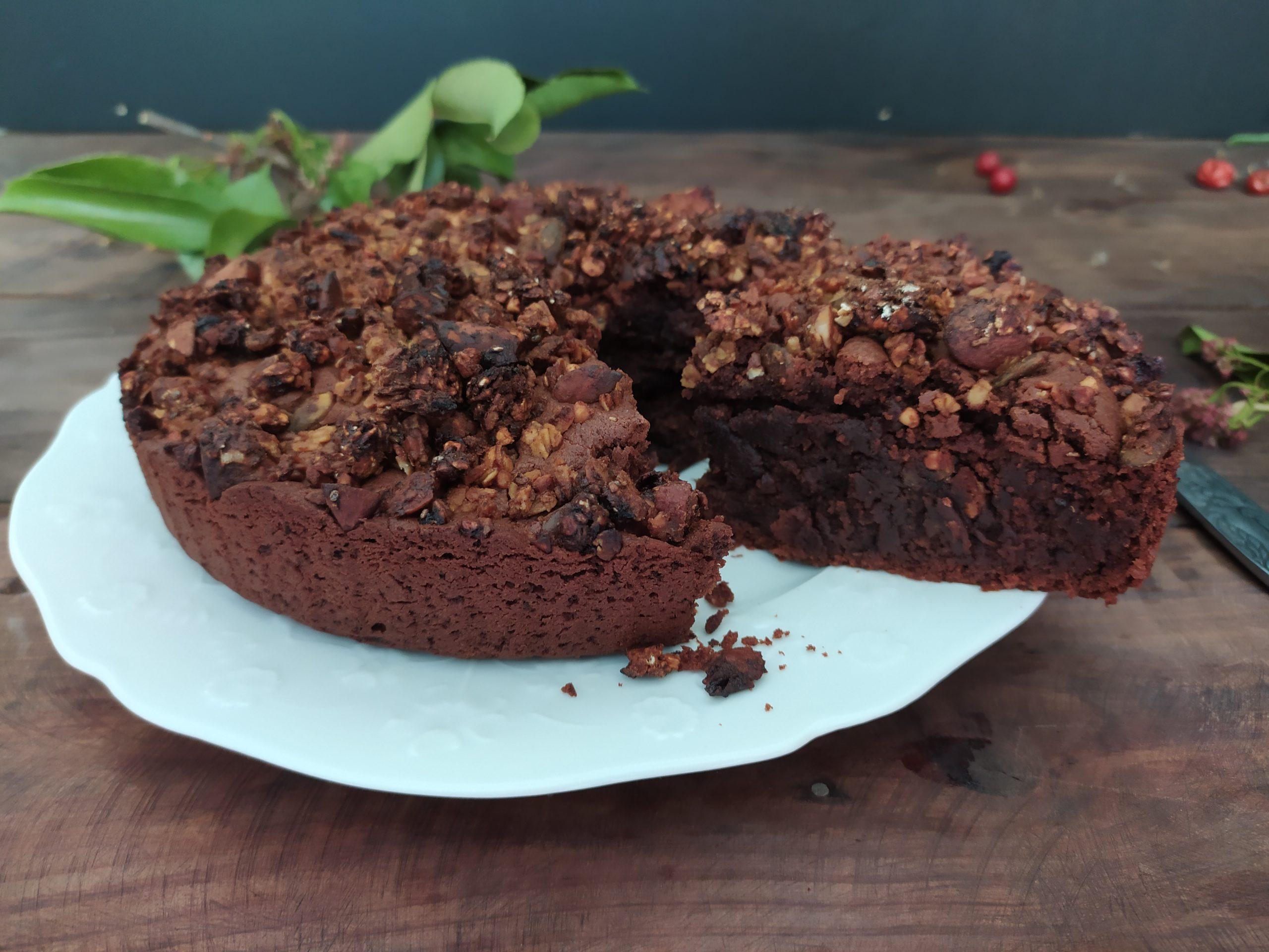 Gâteau au chocolat sans œuf et sans levure chimique