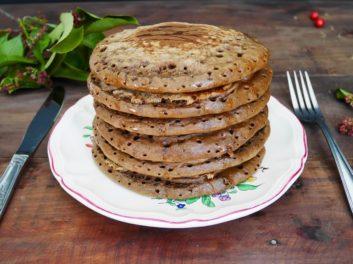 Pancakes à la farine de caroube, le petit déjeuner healthy