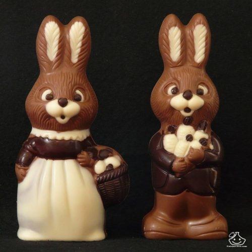 Des petits lapins en chocolat