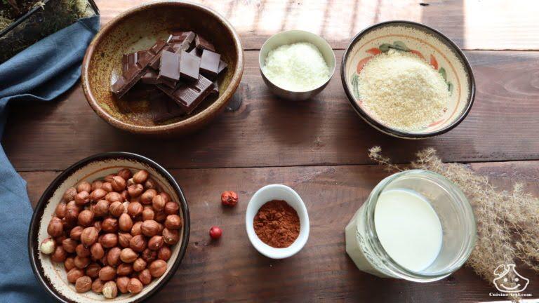Les ingrédients Recette pâte à tartiner maison