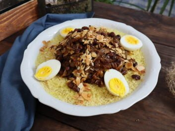 couscous tfaya – Une spécialité marocaine salée sucrée