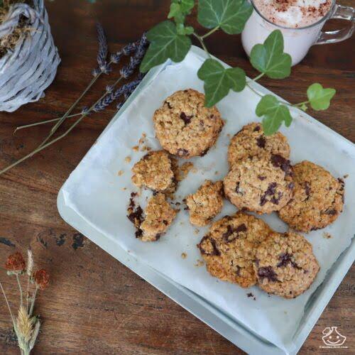 Cookies flocons d'avoine sans sucre raffiné
