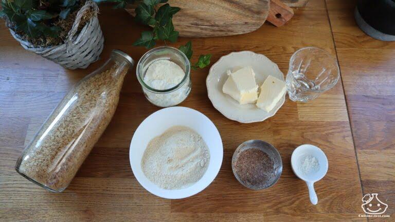 Ingrédients pâte brisée sans gluten