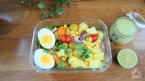 Batch cooking lunch box salade de pomme de terre