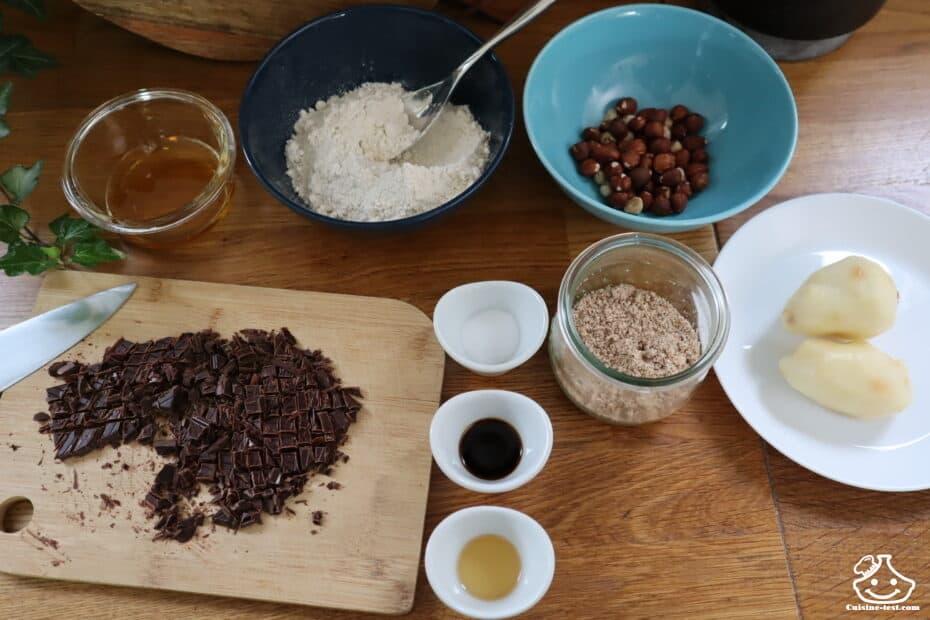 Ingrédients pour cookies vegan