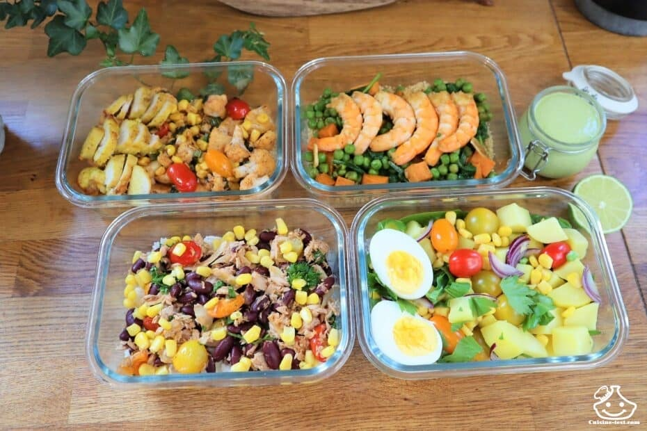 Lunch box en mode batch cooking
