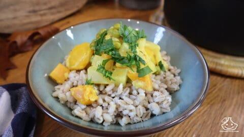 Curry de légumes et orge