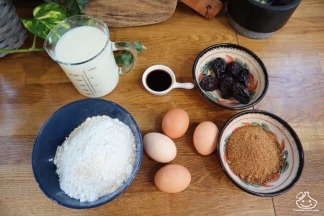 Ingrédients pour le far breton