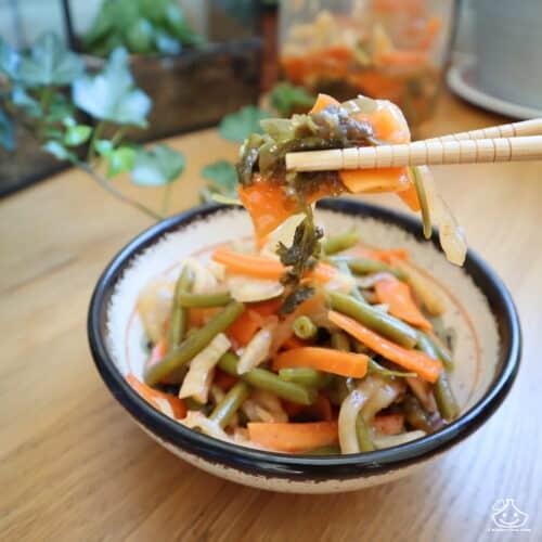 Recette de kimchi au haricots verts