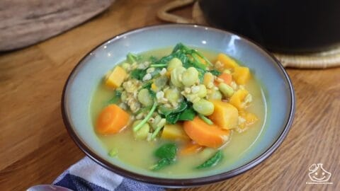 Soupe d'épeautre aux légumes