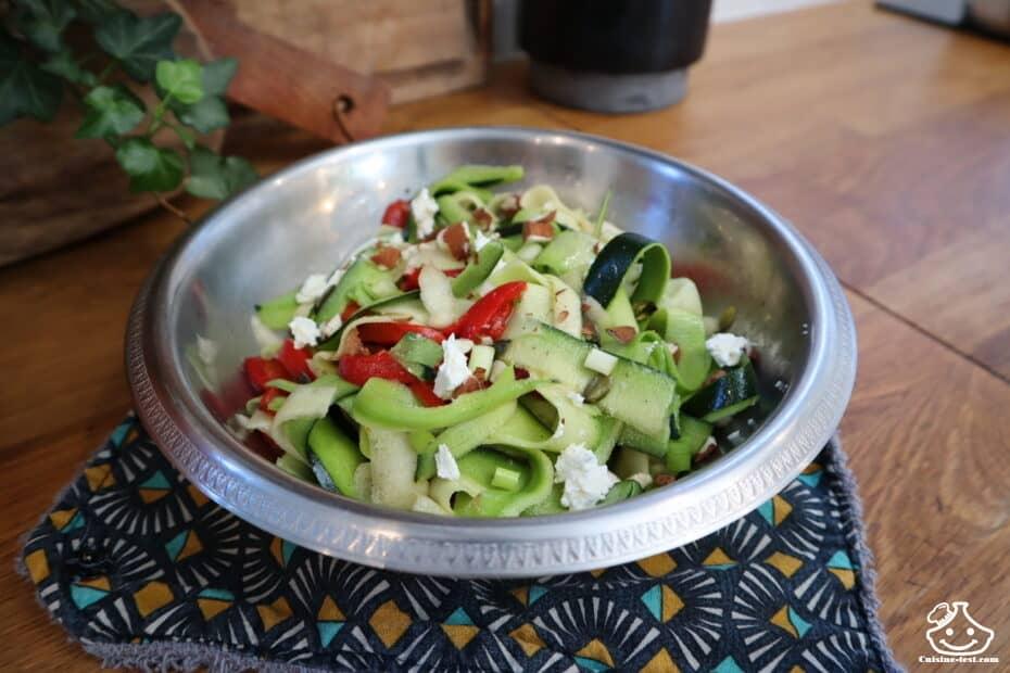Recette salade courgette crues