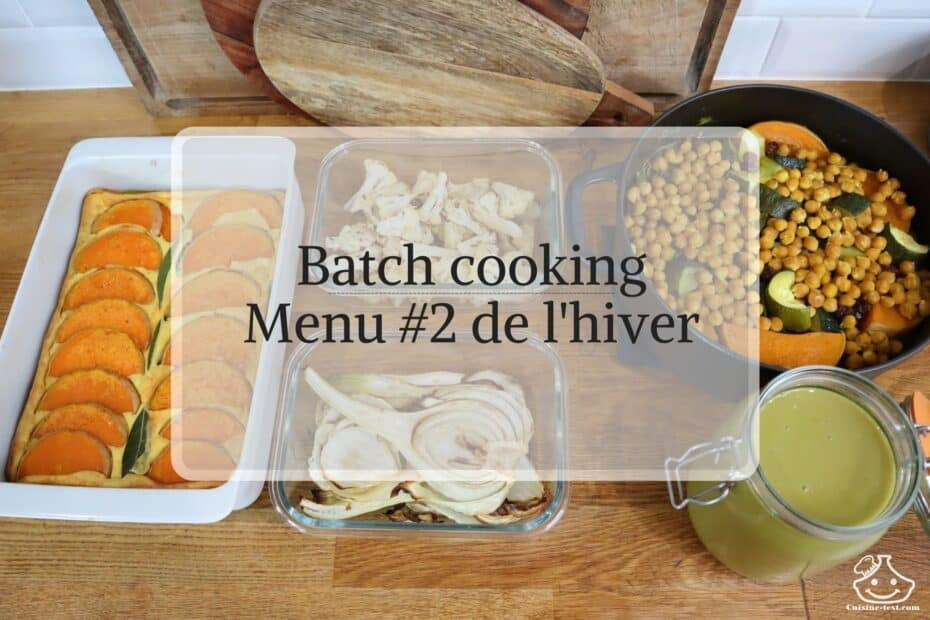 Menu Batch cooking meal prep