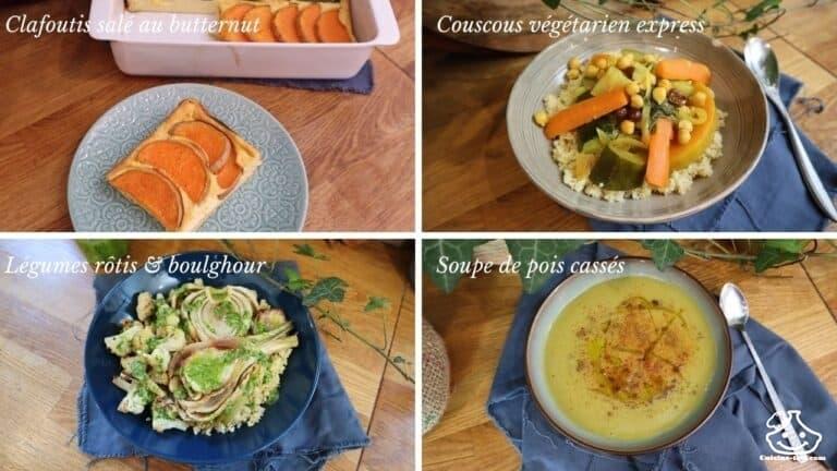 Menu batch cooking simple