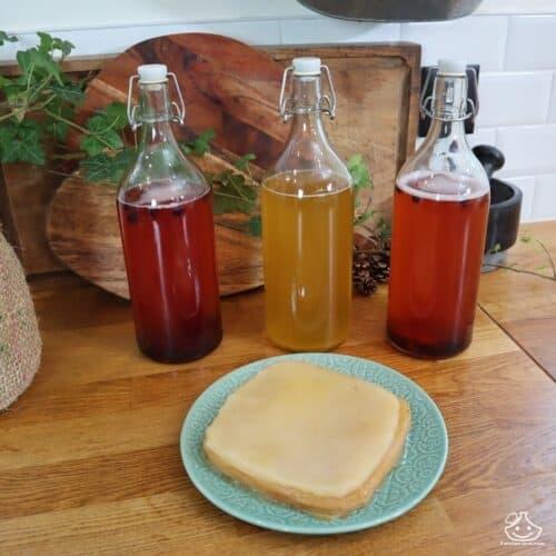 Recette de kombucha maison pour 1 litre