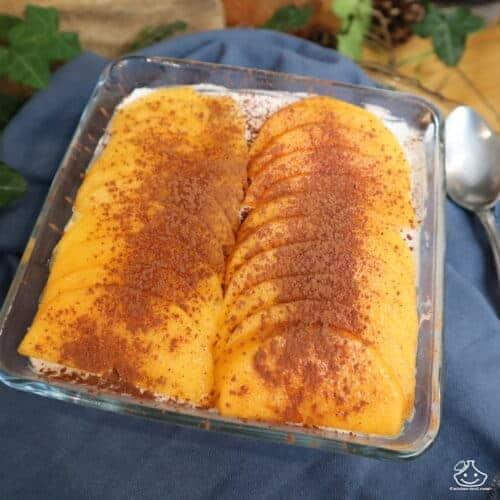 Tiramisu aux kakis sans lactose, sans gluten et sans sucre raffiné