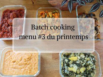 Batch cooking au Cookeo menu #3 du printemps
