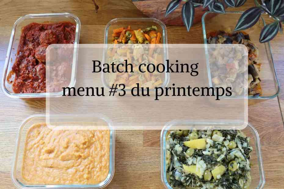 Batch cooking au Cookeo