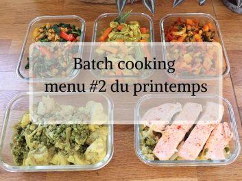 Batch cooking au Cookeo menu #2 du printemps