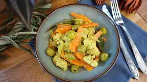 Poulet aux olives en batch cooking