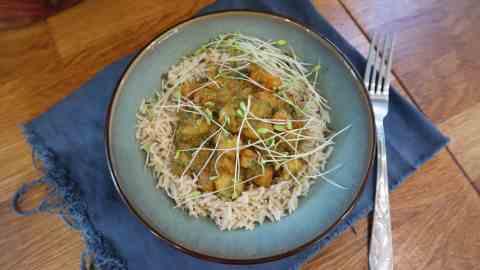 Curry Calmars meal prep