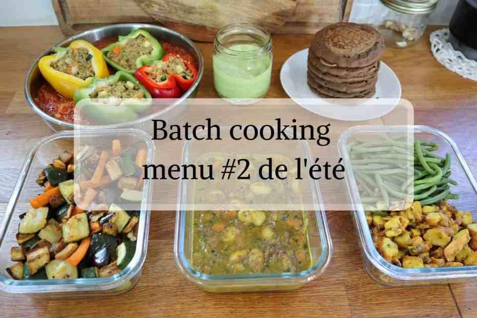 Menu Batch cooking spécial rentrée