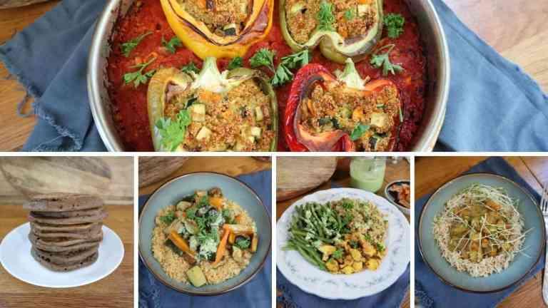 Menu batch cooking