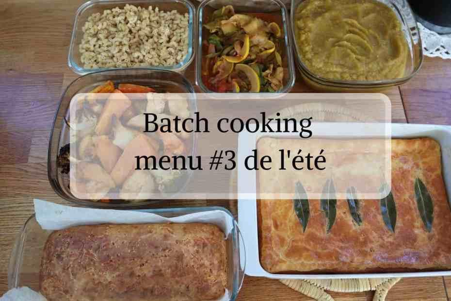Menu batch cooking spécial petit budget
