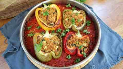 Poivrons farcis batch cooking