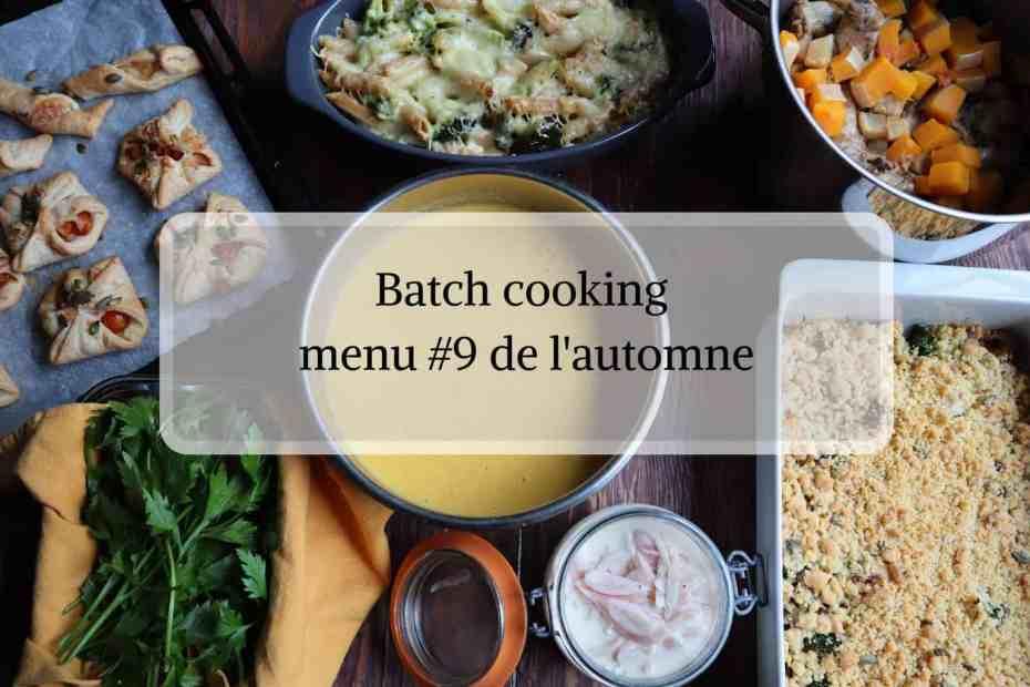 Batch cooking facile automne