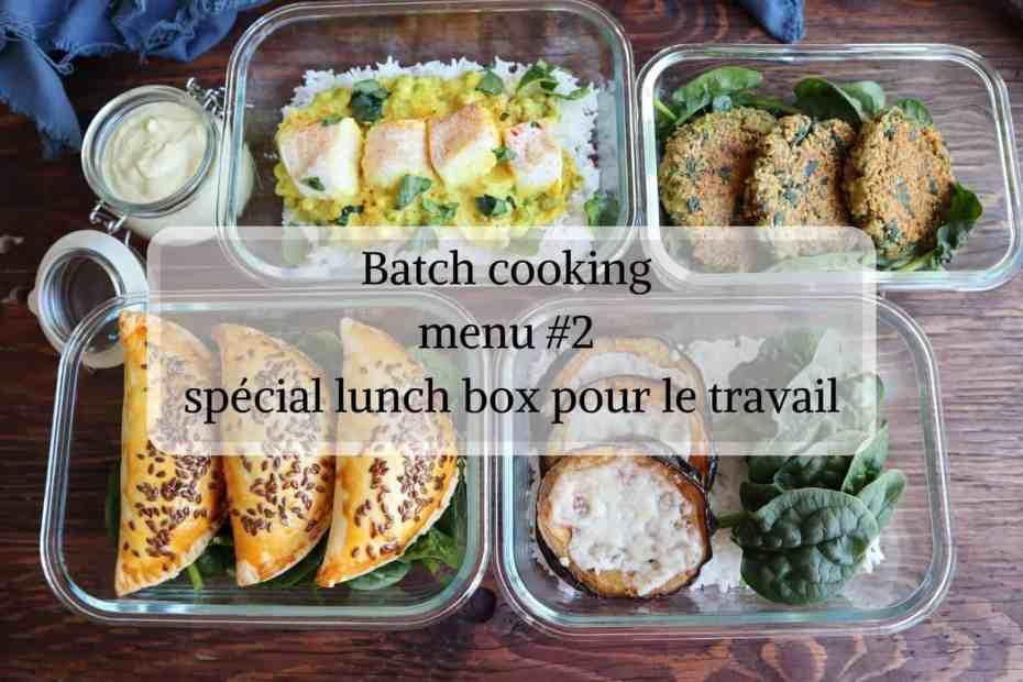Batch cooking lunch box pour le travail